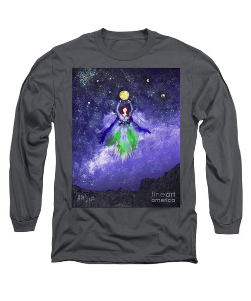 Long Sleeve T-Shirt featuring the painting Survivor by Alys Caviness-Gober