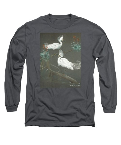 Long Sleeve T-Shirt featuring the pastel Swampbirds by Terry Frederick