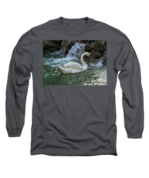 Swan A Swimming Long Sleeve T-Shirt