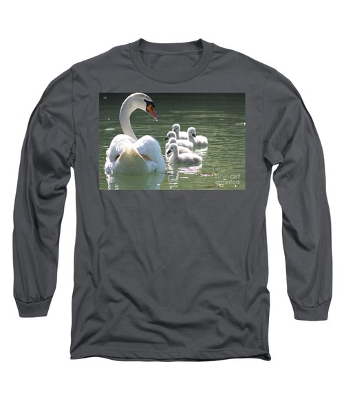 Swans  Long Sleeve T-Shirt by Rogerio Mariani