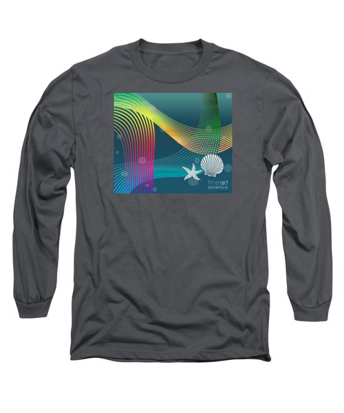 Long Sleeve T-Shirt featuring the digital art Sweet Dreams2 Abstract by Megan Dirsa-DuBois