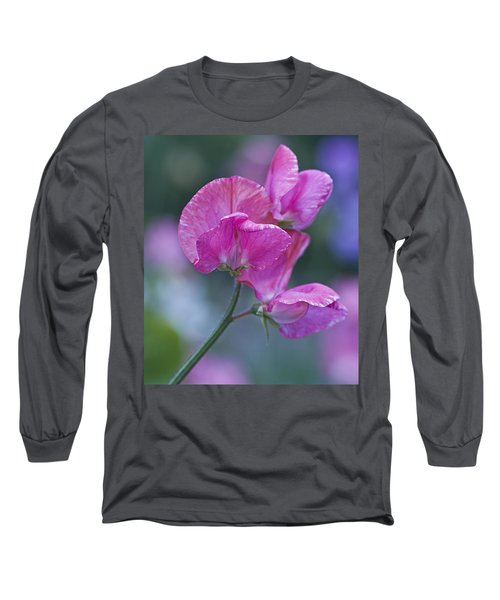 Sweet Pea In Pink Long Sleeve T-Shirt