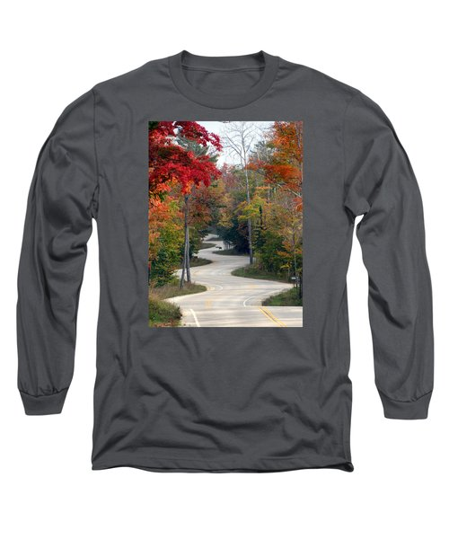 Swervy Road At North Port Long Sleeve T-Shirt by David T Wilkinson