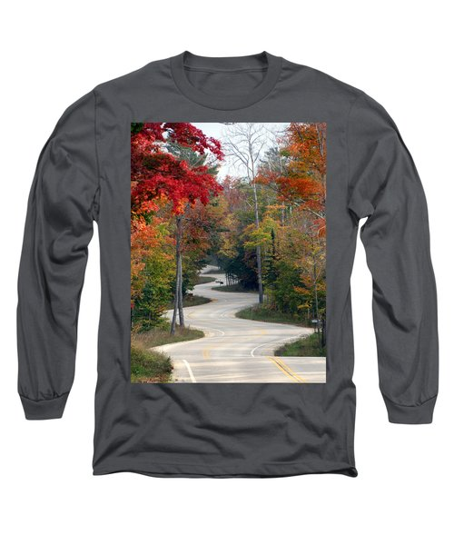 Swervy Road At North Port Long Sleeve T-Shirt