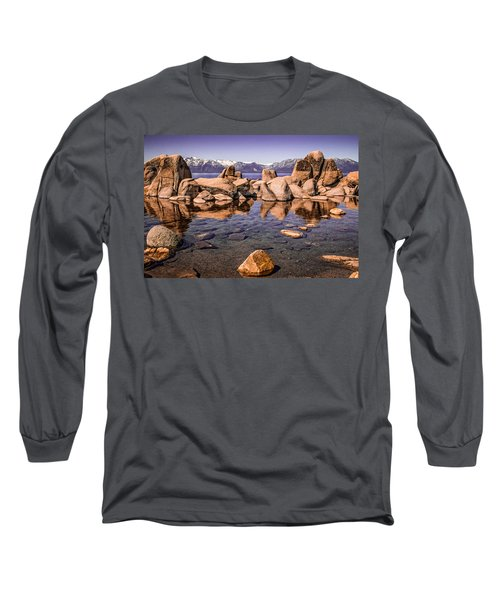 Long Sleeve T-Shirt featuring the photograph Tahoe Reflections by Steven Bateson