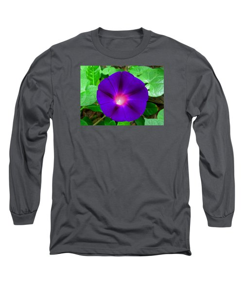 Tall Morning Glory Long Sleeve T-Shirt by William Tanneberger