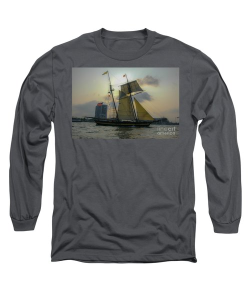 Tall Ship In Charleston Long Sleeve T-Shirt by Dale Powell