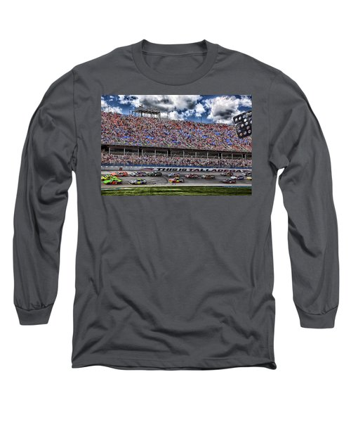 Talladega Superspeedway In Alabama Long Sleeve T-Shirt by Mountain Dreams