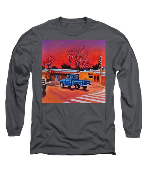 Taos Blue Truck At Dusk Long Sleeve T-Shirt