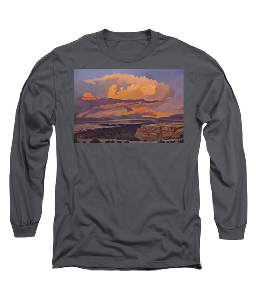Taos Gorge - Pastel Sky Long Sleeve T-Shirt by Art James West