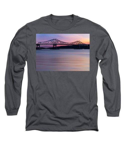 Long Sleeve T-Shirt featuring the photograph Tappan Zee Bridge Sunset by Susan Candelario