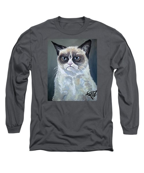 Tard - Grumpy Cat Long Sleeve T-Shirt by Tom Carlton