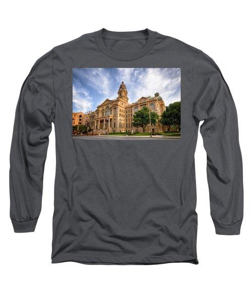 Tarrant County Courthouse II Long Sleeve T-Shirt