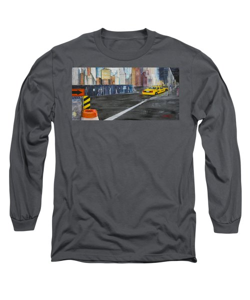 Taxi 9 Nyc Under Construction Long Sleeve T-Shirt
