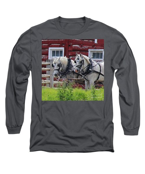 Long Sleeve T-Shirt featuring the photograph Team Of Greys by Ann E Robson