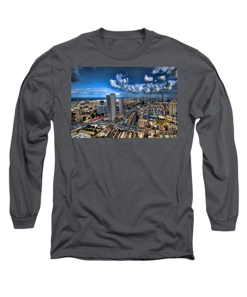 Tel Aviv Center Skyline Long Sleeve T-Shirt