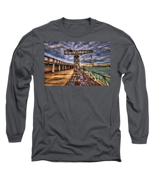 Tel Aviv Port At Winter Time Long Sleeve T-Shirt