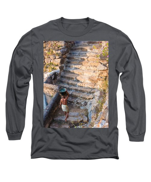 Temple Steps Long Sleeve T-Shirt