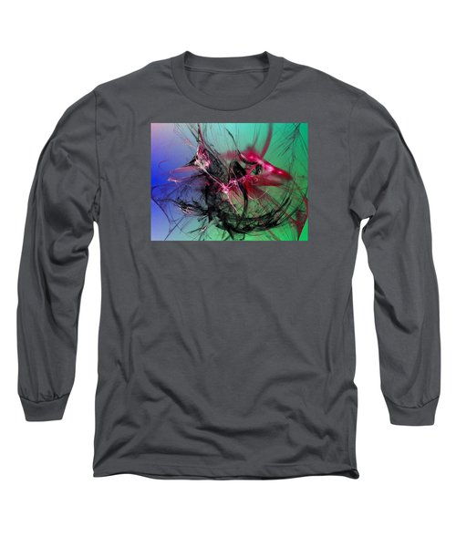 Long Sleeve T-Shirt featuring the digital art Temporal Information Retrieval by Jeff Iverson