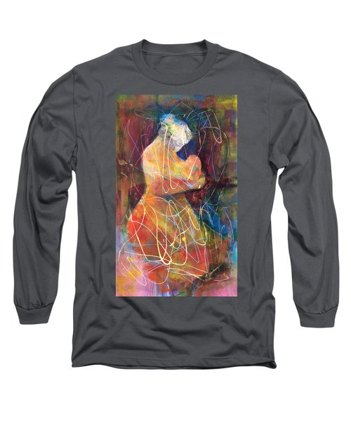 Tender Moment Long Sleeve T-Shirt by Marilyn Jacobson
