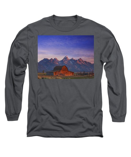 Teton Sunrise Long Sleeve T-Shirt by Darren  White