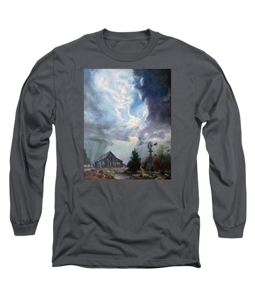 Texas Thunderstorm Long Sleeve T-Shirt by Karen Kennedy Chatham