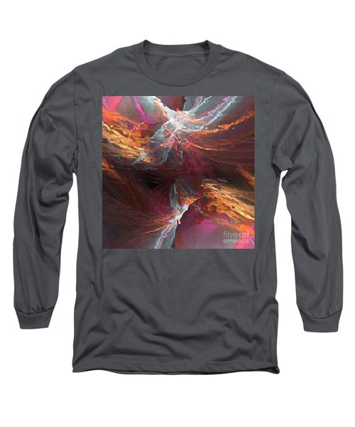 Texture Splash Long Sleeve T-Shirt by Margie Chapman
