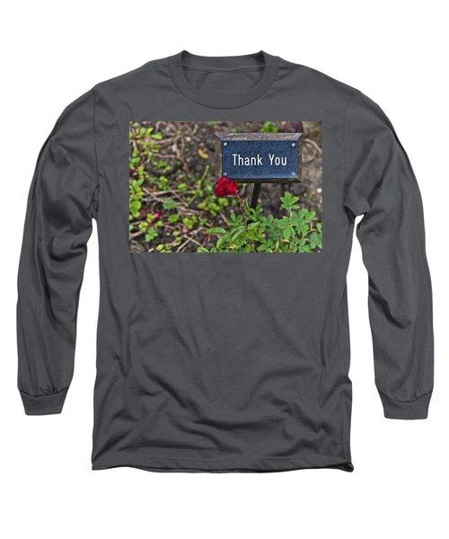 Thank You Long Sleeve T-Shirt by Maj Seda