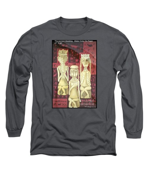 Long Sleeve T-Shirt featuring the painting The Ancient Wedding by Fei A