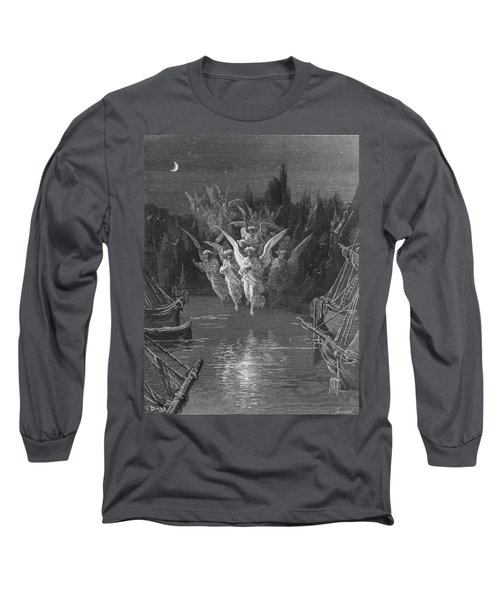 The Angelic Spirits Leave The Dead Bodies And Appear In Their Own Forms Of Light Long Sleeve T-Shirt