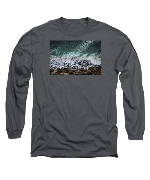 Long Sleeve T-Shirt featuring the photograph The Arm Of Sea And Land by Edgar Laureano