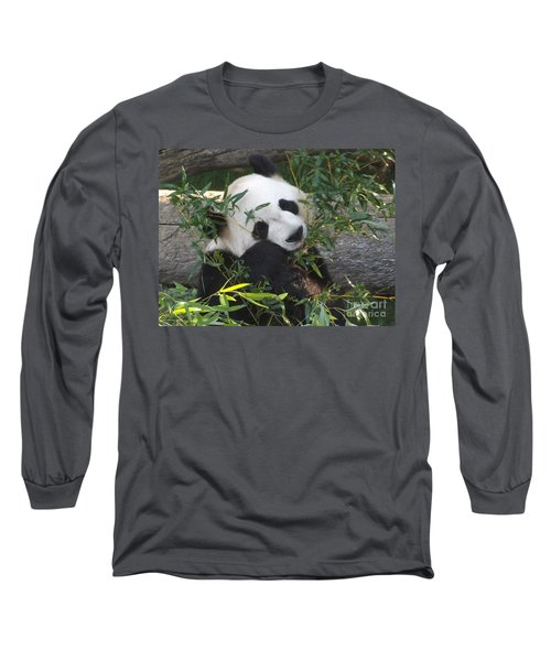 The Art Of Posing At Breakfast Long Sleeve T-Shirt by Lingfai Leung
