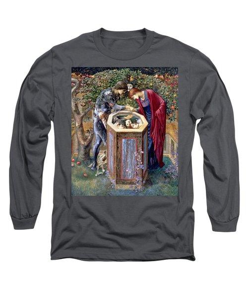 The Baleful Head, C.1876 Long Sleeve T-Shirt by Sir Edward Coley Burne-Jones