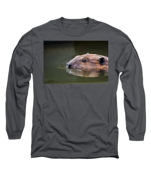 The Beaver Long Sleeve T-Shirt by Bill Wakeley