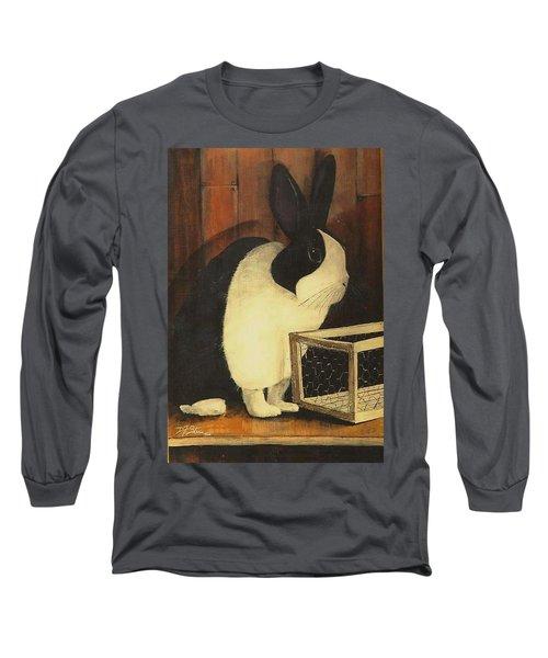 The Black And White Dutch Rabbit  2 Long Sleeve T-Shirt