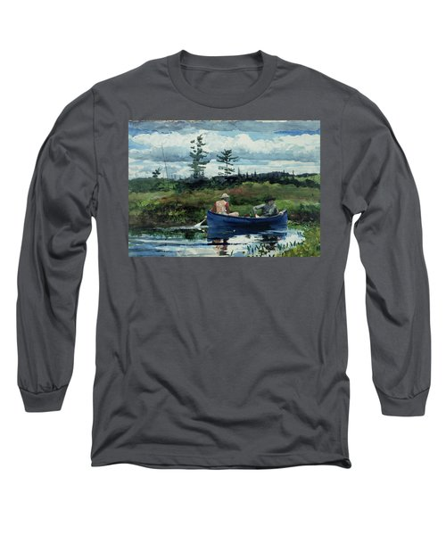 The Blue Boat Long Sleeve T-Shirt by Winslow Homer
