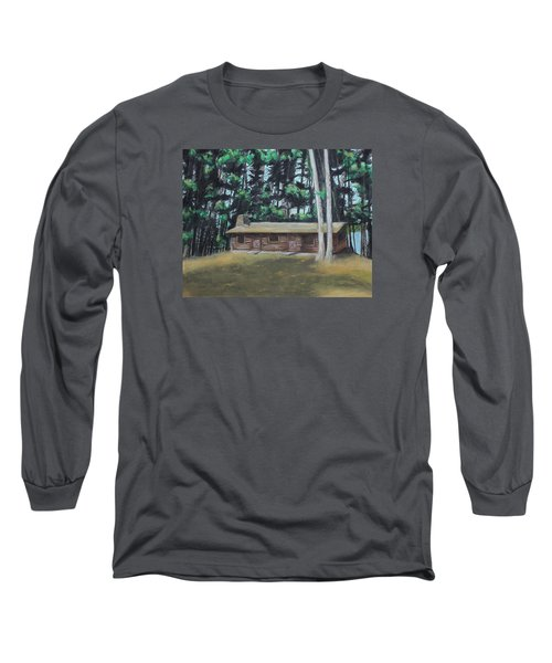 The Cabin Long Sleeve T-Shirt by Jeanne Fischer