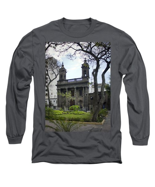 Long Sleeve T-Shirt featuring the photograph The Church Green by Lynn Palmer