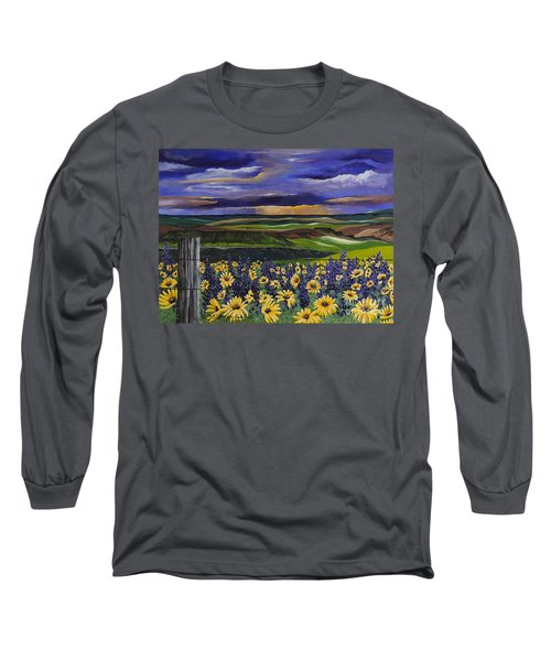 The Colors Of The Plateau Long Sleeve T-Shirt by Jennifer Lake