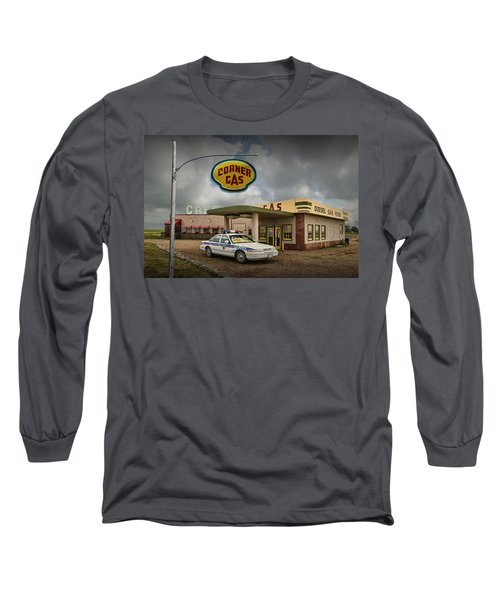The Corner Gas Station From The Canadian Tv Sitcom Long Sleeve T-Shirt