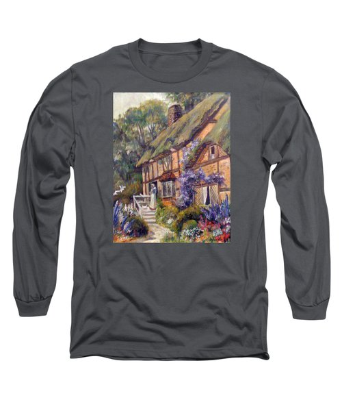 Long Sleeve T-Shirt featuring the painting The Cottage by Donna Tucker