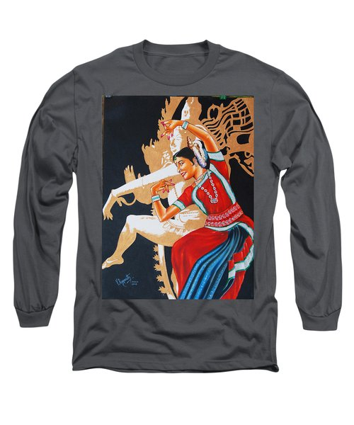 The Dance Divine Of Odissi Long Sleeve T-Shirt