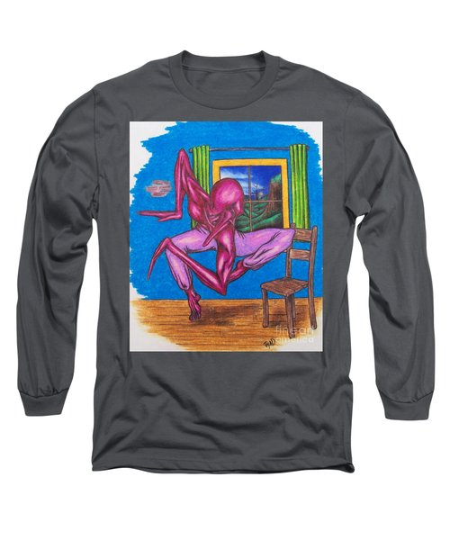 The Dancer Long Sleeve T-Shirt by Michael  TMAD Finney