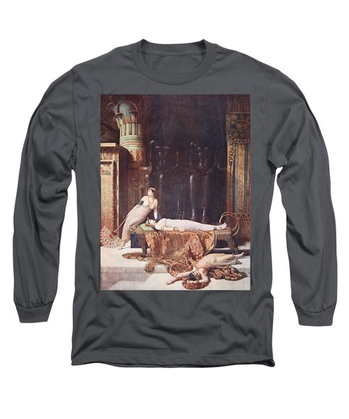 The Death Of Cleopatra, Illustration Long Sleeve T-Shirt
