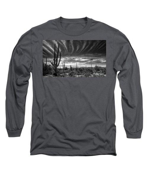 The Desert In Black And White Long Sleeve T-Shirt