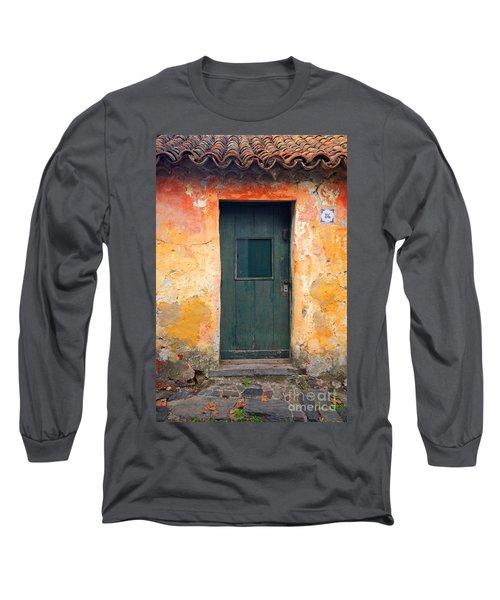 Long Sleeve T-Shirt featuring the photograph The Door by Bernardo Galmarini