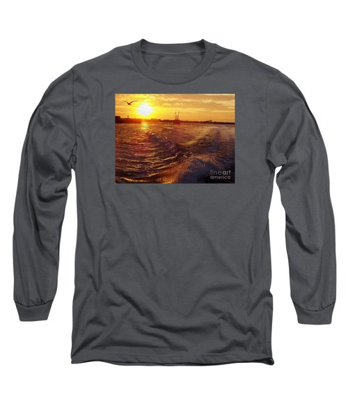 The End To A Fishing Day Long Sleeve T-Shirt by John Telfer