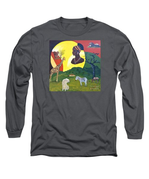 The Faces Of Africa Long Sleeve T-Shirt