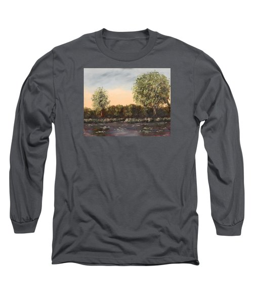 The Far End Of The Pond Long Sleeve T-Shirt by Alan Mager