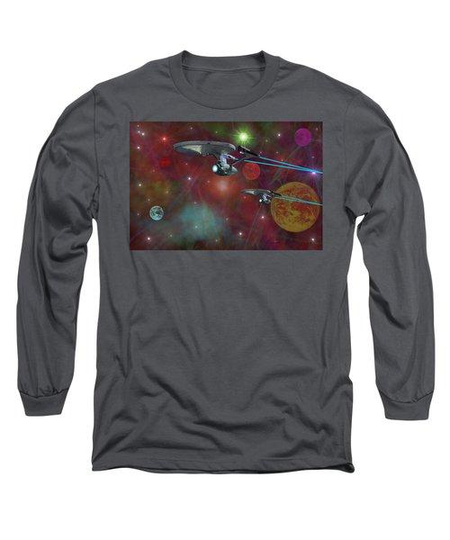 The Final Frontier Long Sleeve T-Shirt by Michael Rucker